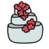 Wedding Cake Icon Home